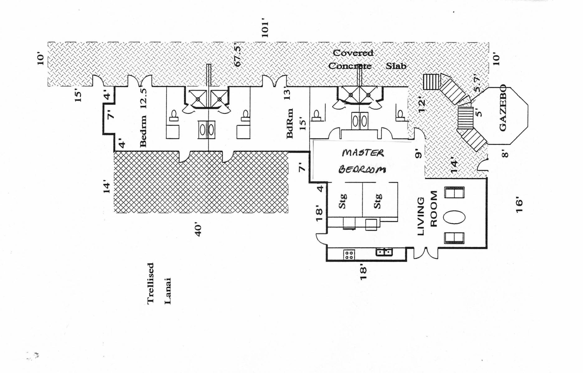 Floor Plan for AINA MALIA ~ 4 BR ~ Artful Ocean Front Home on Wailea Bay ~ Puako