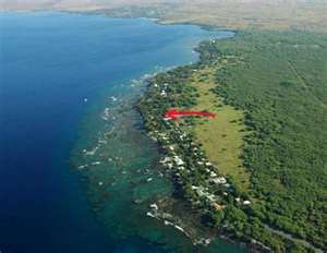 aerial shot of puako