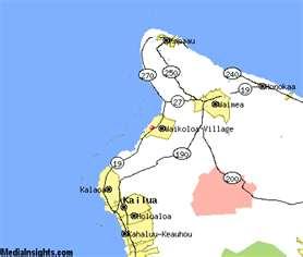 map of puako